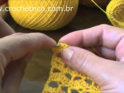 Crochê para Canhotas - Casaquinho (0 à 3 Meses) - Parte 01.02