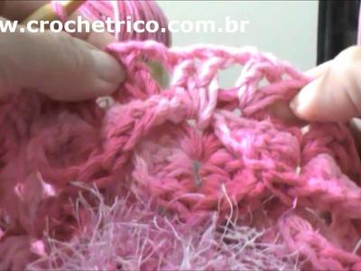 Crochê para Canhotas - Tapete Barroco em Ponto Escama - Parte 04.05