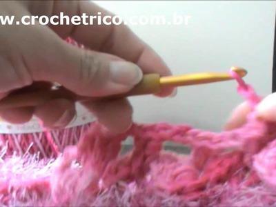 Crochê para Canhotas - Tapete Barroco em Ponto Escama - Parte 03.05