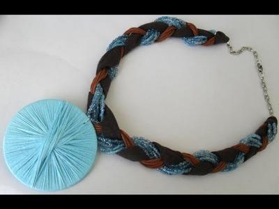DIY - Pingente artesanal e colar de malha