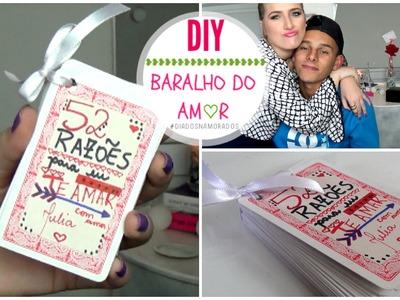 DIY ♥ Presente para o Dia dos Namorados. Fácil! | Baralho do Amor