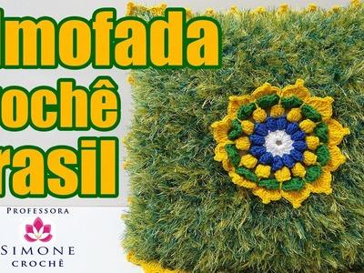 Passo a passo Almofada de Crochê Brasil - Ateliê na TV - Professora Simone