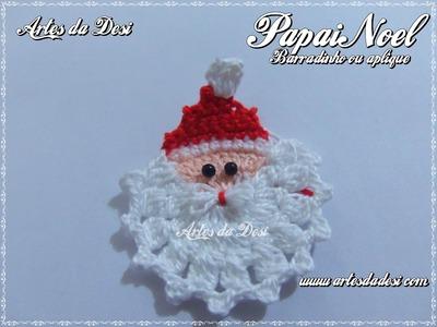 Passo a Passo Papai Noel em Crochê para barrados ou aplique