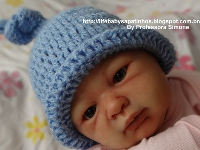 Touca em Crochê para BeBê( Nozinho)