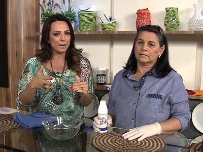 Aprenda a fazer um lindo suporte para prato em crochê