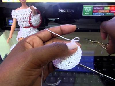 Barbie bolsa em crochê.