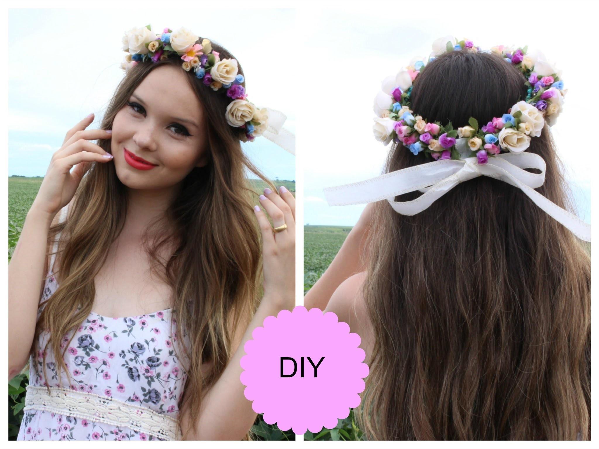 DIY: Como fazer 4 coroas de flores em casa - Super Fácil