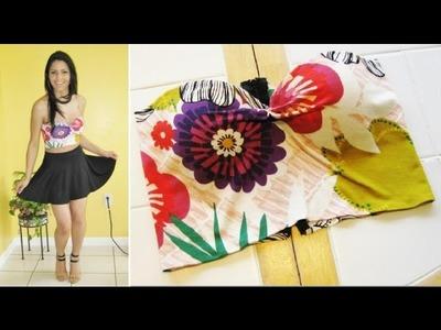 DIY Cropped top feito com sutiã usado by Customização & Cia