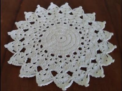 Diy - Toalhinha em Crochê Nº 01 - Como fazer - Fácil - Graça Tristão