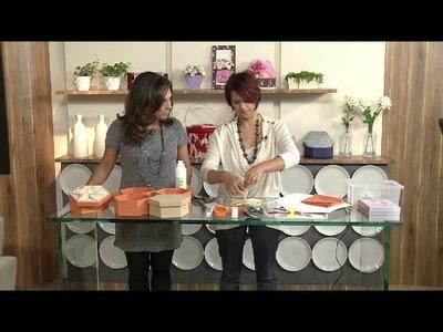Aprenda a fazer uma belíssima caixa personalizada com origami em tecido!