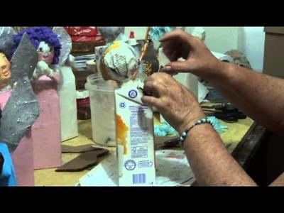 Artesanato Passo a Passo - Anjinhos Feitos com Caixa de Leite