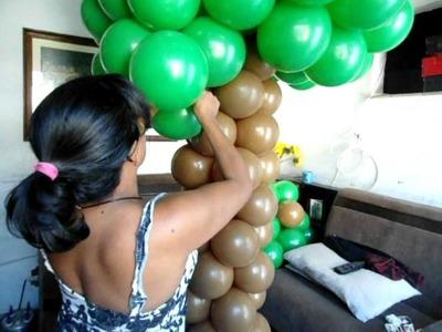 Arvore de balão,arbol del globo