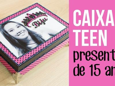 Caixa Teen porta biju - presente de 15 anos