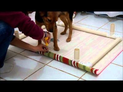 Cama de cachorro em PVC