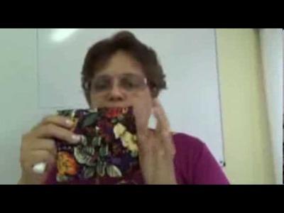 Carteira Multiuso - Essa carteira pode ser feita do tamanho que você desejar.