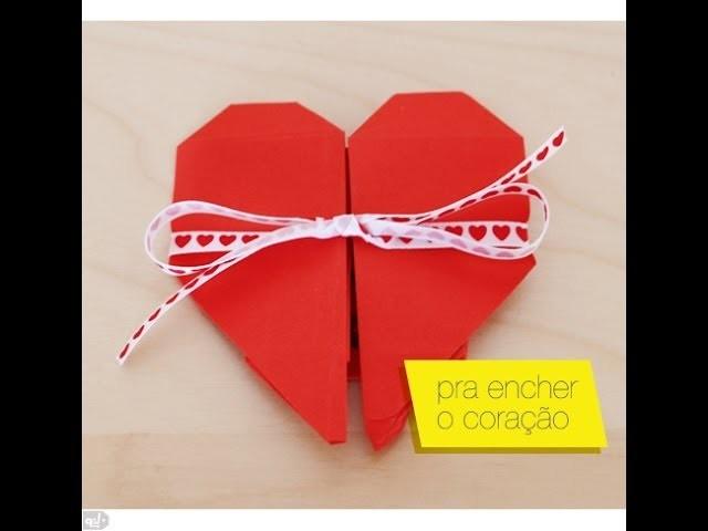 Como fazer coração de origami