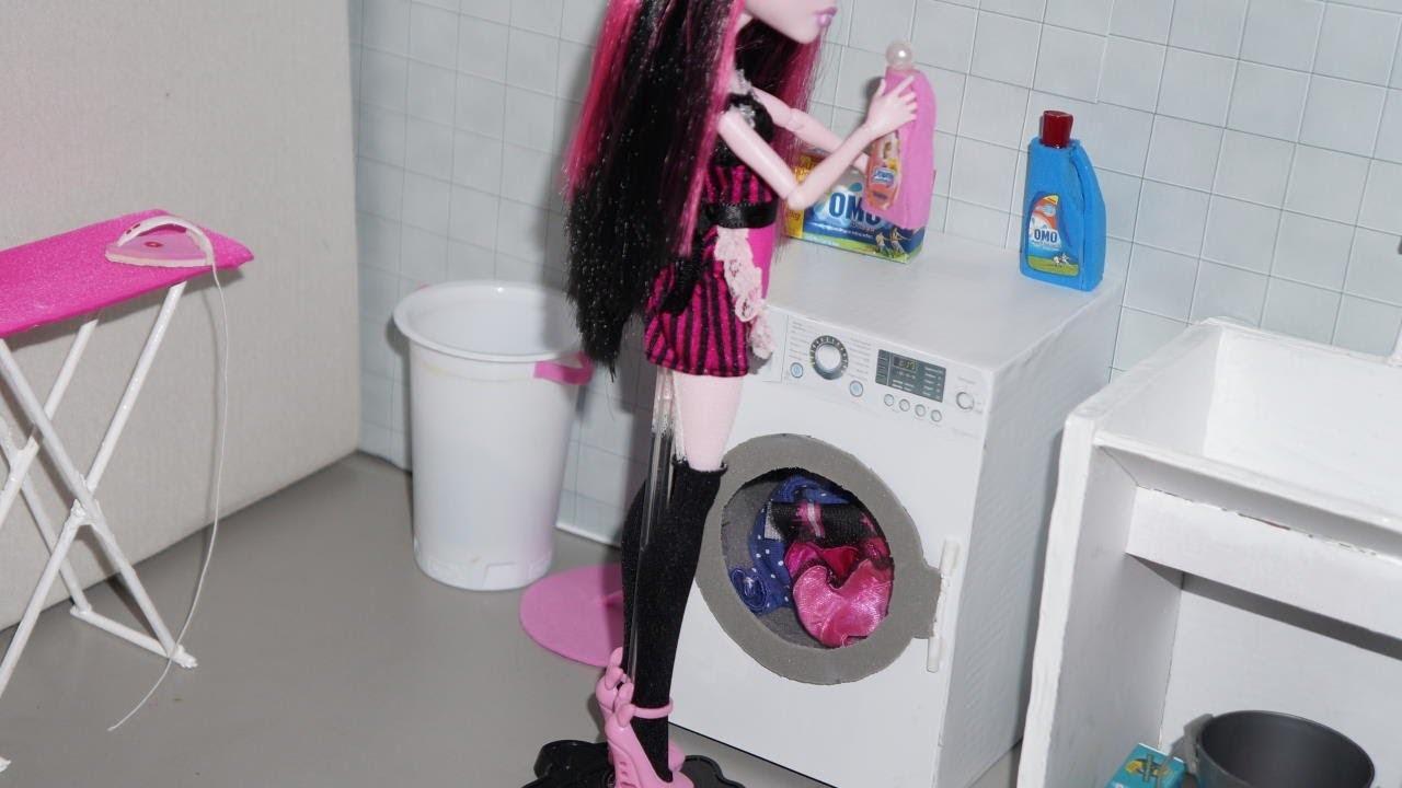 Como fazer máquina de lavar para boneca Monster High, Barbie, etc
