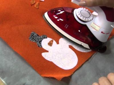 Como fazer um lindo caminho de mesa com barrados natalinos