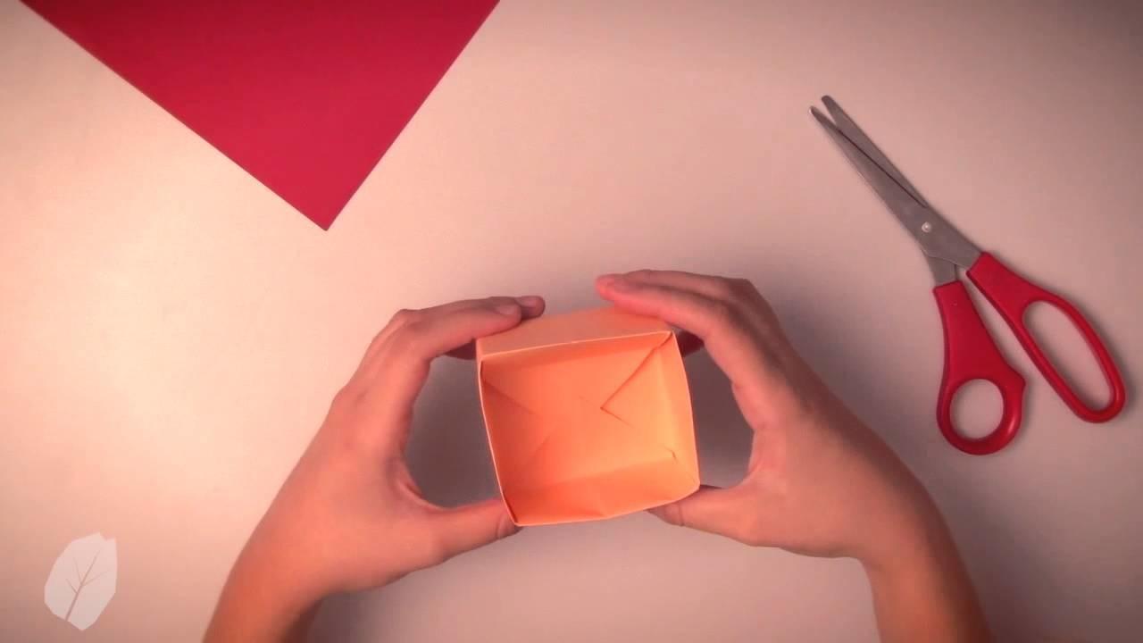 Como fazer uma caixinha organizadora de papel - Origami
