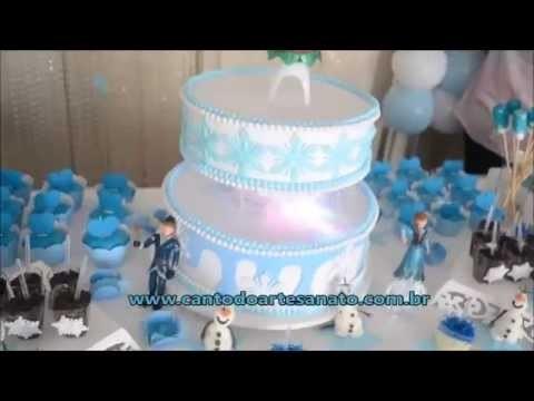 """Como fazer uma linda decoração de festa do tema """"Frozen"""""""