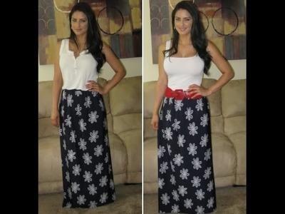 Faça você mesma uma saia longa (Maxi Skirt) by Customização & Cia