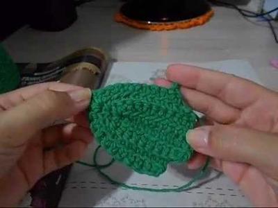 Hilda Eroles - vídeo 11 - folha de crochê para tapetes e aplicações