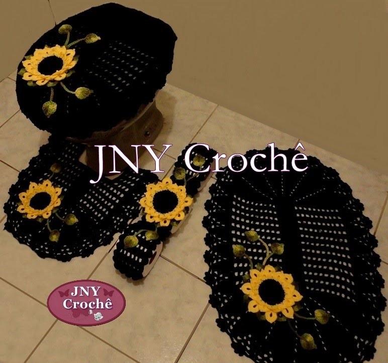 Jogo de Banheiro de Crochê Mega Girassol por JNY Crochê