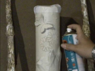 Luminária de PVC Passo a Passo Pintura Parte 1
