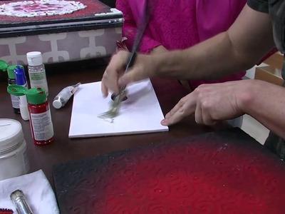 Mulher.com 29.09.2014 - Caixa com Aplique e Pintura Gestual por Davi Jansen - Parte 2