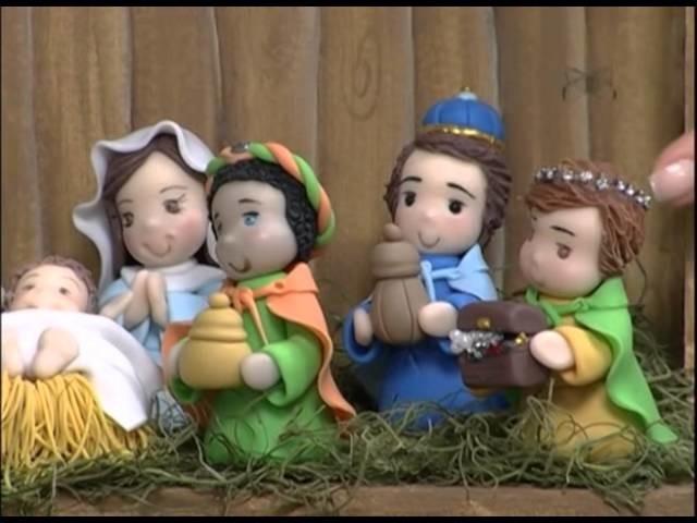 Mulher.com 30.11.2012 Eleia Conti - Reis magos em biscuit 1.2