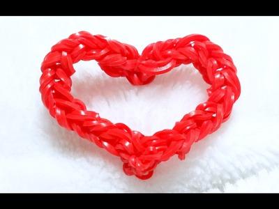 Rainbow Loom-Coração de Gomitas feito com os dedos- Loom Bands