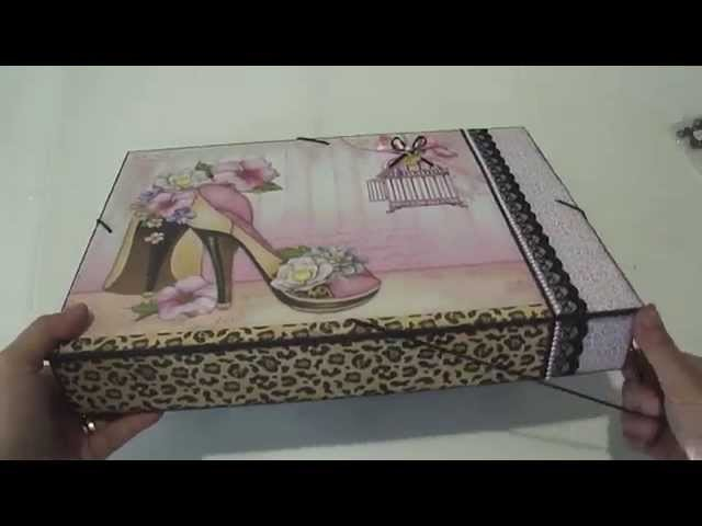 Video-Aula Livia Fiorelli Caixa Pasta Scrap Decor