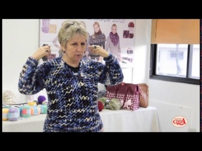 Vitória Quintal faz demonstração das linhas e lãs Coats Corrente - parte 3