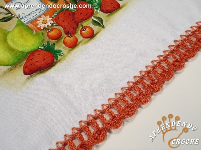 Bico de Crochê Laranjinha - Aprendendo Crochê