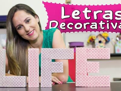 Como Fazer Letras Decorativas Com Caixas de Pasta de Dente - Artesanato Reciclado