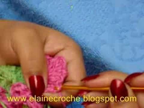 CROCHE - CENTRINHO COM FLORES EM ESPIRAL - 4ª PARTE - FINAL