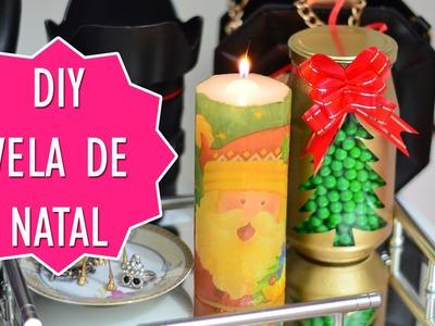DIY Decoração de Natal Vela Papai Noel | #2 #EspecialdeNatal | URSULAPINKWOMAN