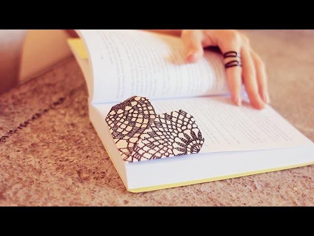 DIY: Marcador de páginas de coração | Faça você mesmo