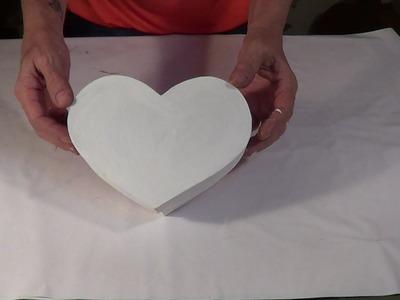 Caixa Coração (Parte 1) - Box Heart Shape (part 1)