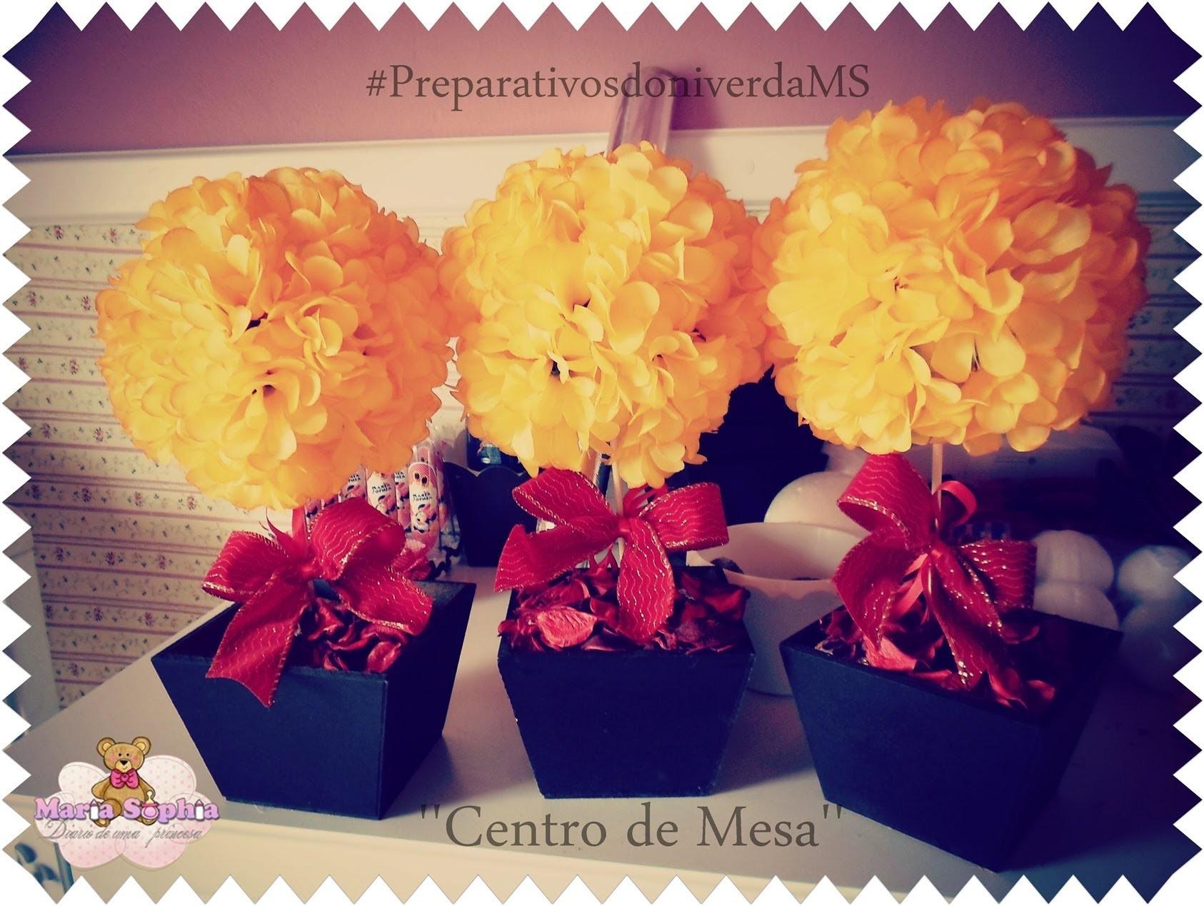 DIY- CENTRO DE MESA (Árvore com Flores ) #TOPIARIA \ faça você mesmo