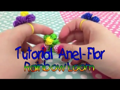 ❀ Tutorial: Anel-Flor Rainbow Loom  sem tear por Julia Silva