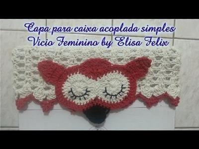 Jogo de banheiro coruja : Capa para Caixa acoplada Vício Feminino by Elisa Felix