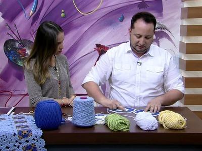 Mulher.com 26.05.2015 Marcelo Nunes - Manta margarida em crochê Parte 2.2