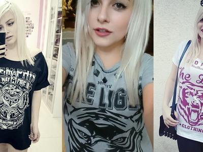 DIY ♡ Camiseta Masculina em Feminina ♡