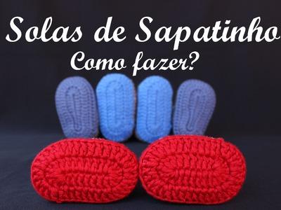 Sola sapatinho de crochê: Respondendo algumas dúvidas!