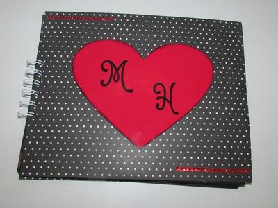 Álbum romântico scrapbook - dia dos namorados