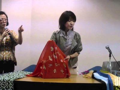 Aprenda a fazer uma sacola fashion de furoshiki