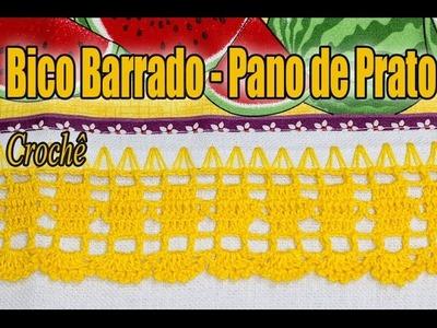 Bico Barrado pano de Prato em crochê - Professora Simone #crochet #passoapasso