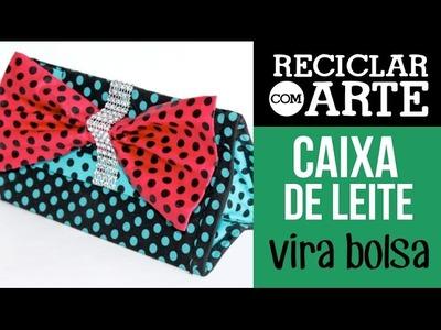 Bolsa de mão triangular com laço - Reciclar com Arte