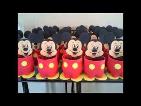 Centro de mesa para festa infantil Mickey Mouse